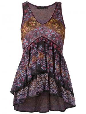 Трикотажная блузка Cecilia Prado. Цвет: чёрный
