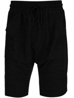 Спортивные шорты с эластичным поясом Publish. Цвет: чёрный