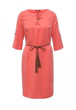 Платье Olsen. Цвет: коралловый