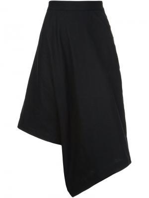 Асимметричные укороченные брюки Y-3. Цвет: чёрный