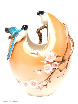 Ваза Мелодия Любви Pavone. Цвет: оранжевый, коричневый, голубой