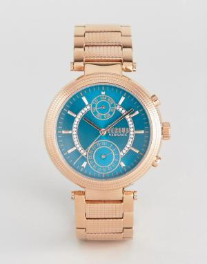 Versus Versace Золотисто-розовые часы S7908 Star Ferry. Цвет: золотой