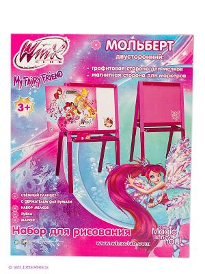 Деревянный мольберт WINX 1Toy. Цвет: прозрачный