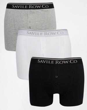 Saville Row Набор из 3 боксеров‑брифов Savile. Цвет: черный