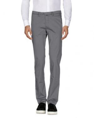 Повседневные брюки B SETTECENTO. Цвет: свинцово-серый