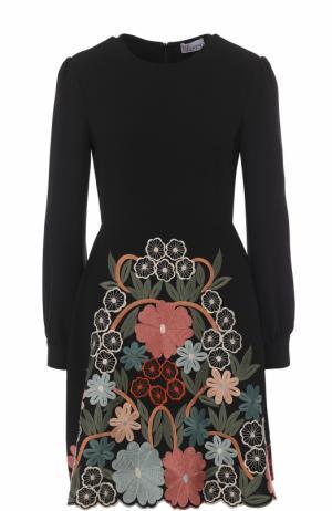 Приталенное мини-платье с декоративной отделкой REDVALENTINO. Цвет: разноцветный