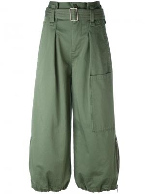 Кюлоты карго с поясом Marc Jacobs. Цвет: зелёный