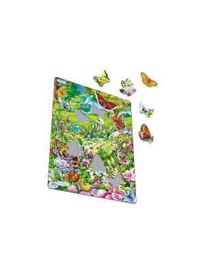 Пазл Бабочки LARSEN AS. Цвет: белый, синий, зеленый, голубой, оранжевый, желтый