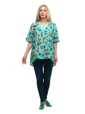 Блузка OLSI. Цвет: светло-зеленый