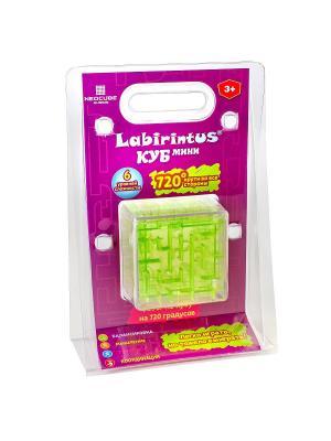 Лабиринтус Куб, 6см, зелёный, прозрачный Labirintus. Цвет: синий