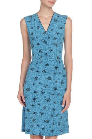 Платье с V образным вырезом Marni. Цвет: ярко-синий