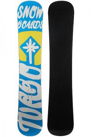 Сноуборд  Turbo Snowboards Logo 2 Light Blue/Yellow/White Turbo-FB. Цвет: голубой,желтый,белый