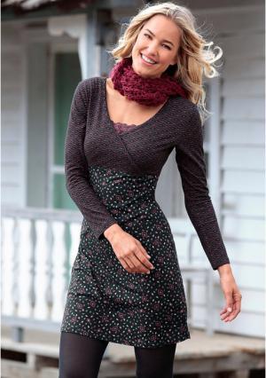 Платье BOYSENS BOYSEN'S. Цвет: черный/с рисунком