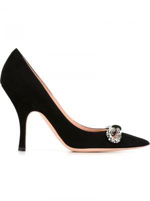 Декорированные туфли Rochas. Цвет: чёрный