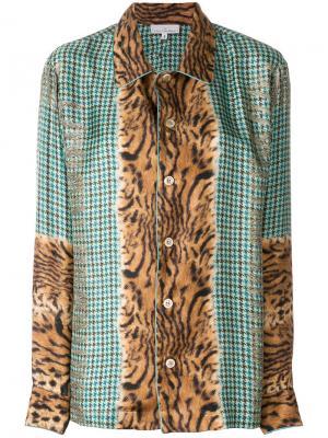 Приталенная блузка с вышивкой Pierre-Louis Mascia. Цвет: многоцветный
