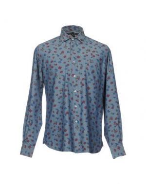 Джинсовая рубашка ORIAN. Цвет: синий