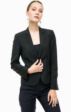 Черный пиджак с декоративными клапанами Cinque. Цвет: черный