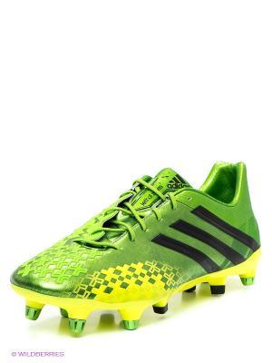 Бутсы Adidas. Цвет: зеленый
