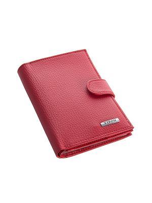 Обложка для паспорта и документов VIRON. Цвет: красный