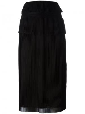 Плиссированная юбка миди Iro. Цвет: чёрный