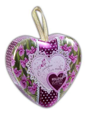 Чай Hilltop Волшебная луна 50г., сердечко Цветущие ирисы. Цвет: черный,зеленый