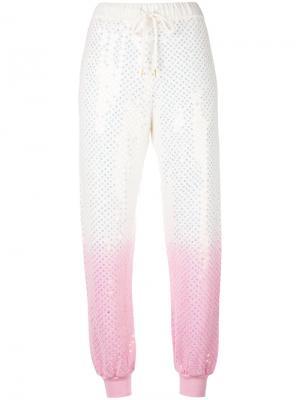 Спортивные штаны с эффектом градиента Ashish. Цвет: белый