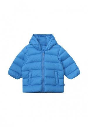 Пуховик United Colors of Benetton. Цвет: голубой
