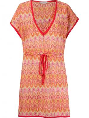 Трикотажное пляжное платье Brigitte. Цвет: жёлтый и оранжевый
