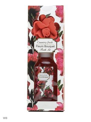 Подарочный набор Fleurs Bouquet 2 пред.(гель д/душа 250 + мочалка) Country Fresh. Цвет: кремовый
