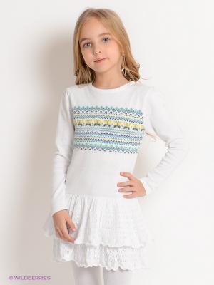 Платье Viaggio bambini. Цвет: белый, желтый, зеленый