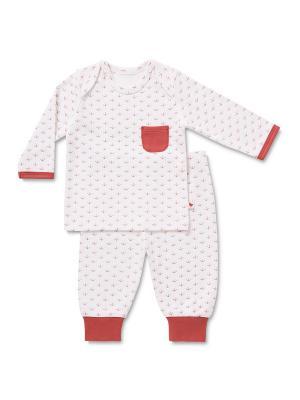 Пижама HappyBabyDays. Цвет: красный, белый