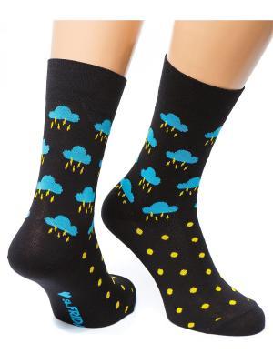 Дизайнерские Носки St.Friday Socks. Цвет: черный