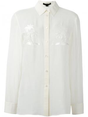 Рубашка с вышивкой Alexander Wang. Цвет: телесный