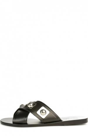 Кожаные шлепанцы Thais Ancient Greek Sandals. Цвет: черный