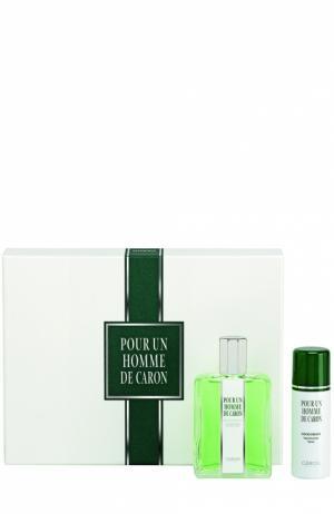 Набор Pour Un Homme: Туалетная вода + Дезодорант Caron. Цвет: бесцветный