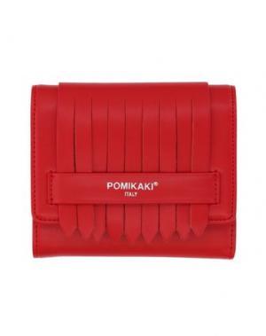 Бумажник POMIKAKI. Цвет: красный