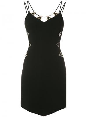 Платье с металлической отделкой David Koma. Цвет: чёрный