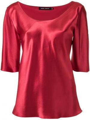Round neck blouse Gloria Coelho. Цвет: красный