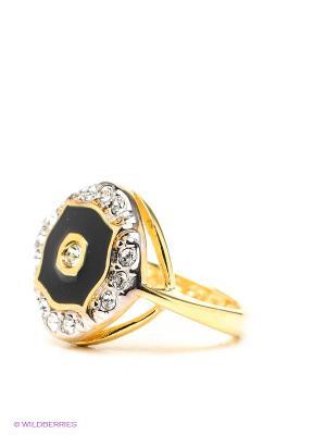 Кольцо Jenavi. Цвет: золотистый, черный