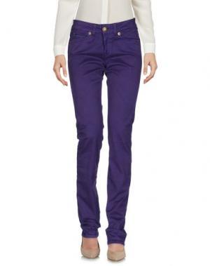 Повседневные брюки BARBA Napoli. Цвет: фиолетовый