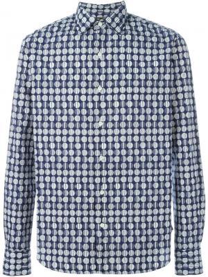 Рубашка с принтом Gabriele Pasini. Цвет: синий