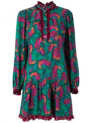 Abstract print dress Isolda. Цвет: синий