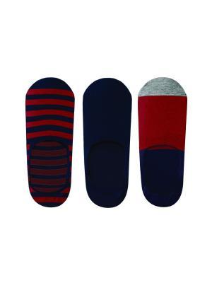 Носки мужские (3 пары) JOHN FRANK. Цвет: синий, бордовый