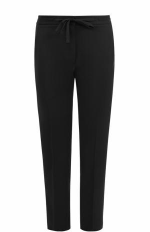 Укороченные брюки прямого кроя со стрелками Burberry. Цвет: черный