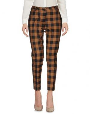 Повседневные брюки ROOM 52. Цвет: коричневый