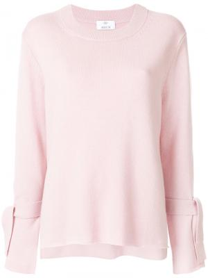 Джемпер с завязками на манжетах Allude. Цвет: розовый и фиолетовый