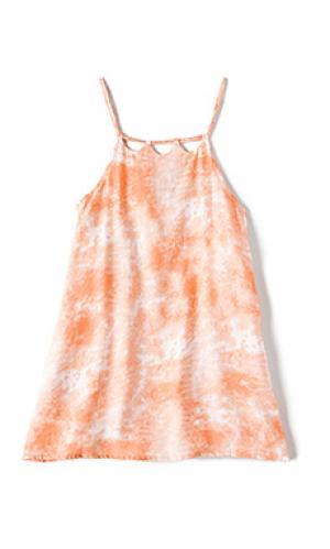 Платье kora Tori Praver Swimwear. Цвет: коралл