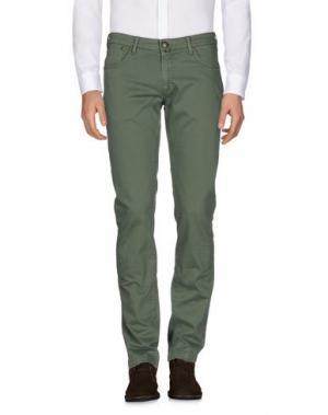 Повседневные брюки B SETTECENTO. Цвет: зеленый