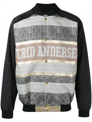 Куртка-бомбер со вставкой Astrid Andersen. Цвет: чёрный