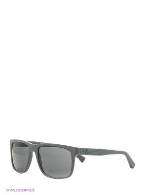 Солнцезащитные очки Emporio Armani. Цвет: серый